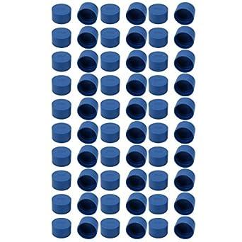 uxcell 100Pcs 8mm Inner Dia PE Plastic End Cap Bolt Thread Protector Tube Cover