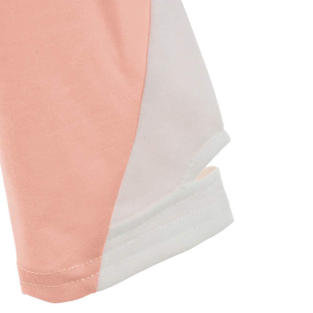 Zegeey Damen Pullover Langarm Patchwork Farbblock Patchwork Farbblock Gestreift Streifen Lose L/äSsige Sweatshirt Herbst Outwear Bluse Oberteil Shirt Mit Kordel