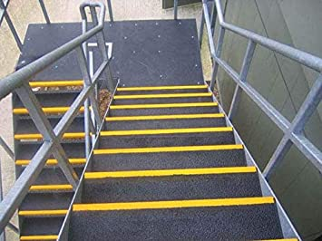 500mm Non Slip Step Cover Anti-Slip Stair Tread Covers Heavy Duty GRP Pack of 10 Black//Yellow