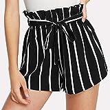 Summer Clearanc!Women Retro Stripe Casual Fit Elastic Waist...