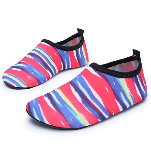 Barerun Kids Quick-Dry Wasserschuhe Leichte Aqua Socken für Beach Pool Surf Yoga Übung Bunter Druck