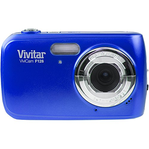 Vivitar Blue ViviCam F126 Digital Camera with 14 Megapixels