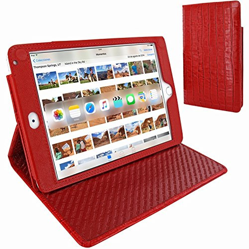 Piel Frama 722 Red Crocodile Cinema Magnetic Leather Case for Apple iPad mini 4 by Piel Frama