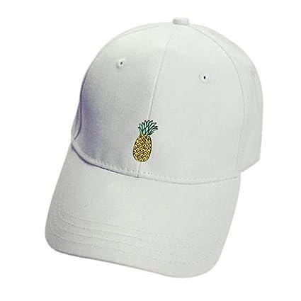 ❤️Amlaiworld Hombre Mujer Gorra de béisbol Casual Sombreros de piña Unisex  Sombrero de Punta Ajustable 264c8d7ae76