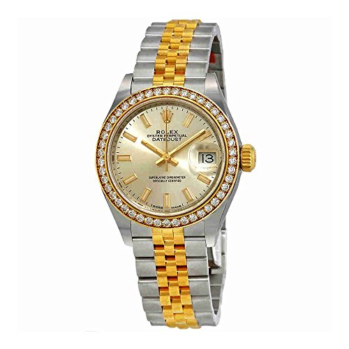 Rolex Lady-Datejust Silver Dial Ladies Steel and 18kt Yellow Gold Jubilee Watch 279383SSJ