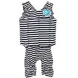 Splash About Kids Short John Floatsuit with Adjustable Buouyancy - Navy/White Stripes, 1-2 Years by Splash About