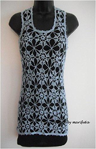 Crochet Summer Vest Flower Top Tunic Pattern Pdf Nr 12 Crochet