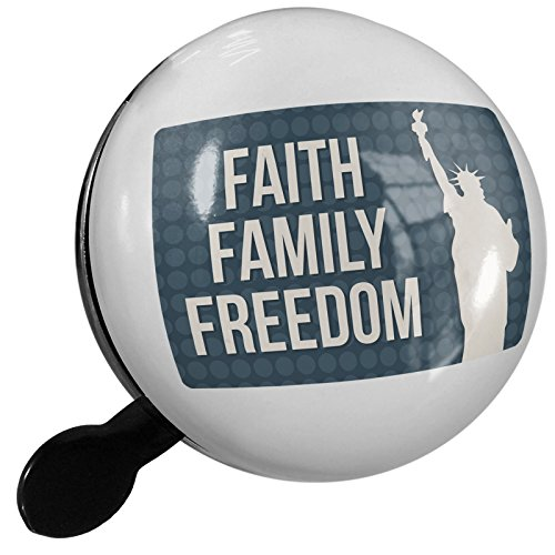 Small Bike Bell Faith Family Freedom Fourth of July Lady Liberty - NEONBLOND by NEONBLOND