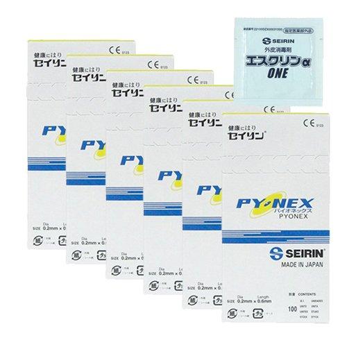 【返品?交換対象商品】 セイリン パイオネックス(100本入) 6箱 0.6mm × 6箱 + × エスクリンαONE 1個 セット 0.6mm 0.6mm × 6箱 B07DWTXSDZ, 金田町:b521bcd1 --- a0267596.xsph.ru