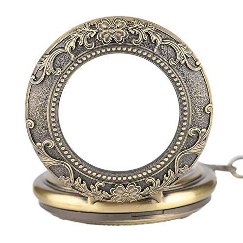 ZJZ Vintage fickur hänge för män kvinnor handlindning mekanisk vintage fickur klockor