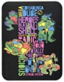 TMNT Teenage Mutant Ninja Turtles 80s Neon Fleece Throw Blanket