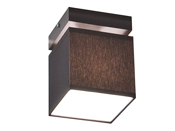 Plafoniera illuminazione a soffitto in legno massiccio lls d