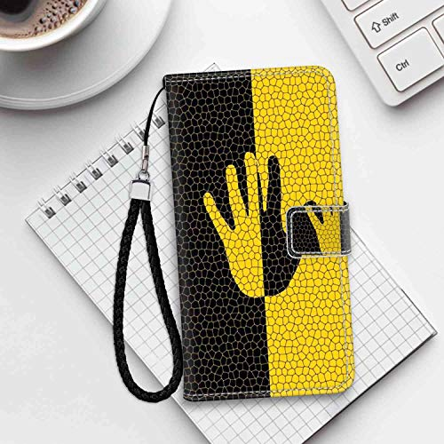 Color Palm Phone Wallet Case Compatible with iPhone 6S (2015), iPhone 6 (2014) (4.7 Version) ID Card Clip ()