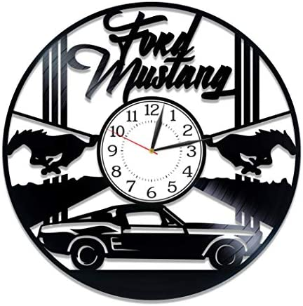 Kovides Sport Car Handmade Products Ford Mustang Birthday Gift Idea Car Wall Clock 12 Inch Speed Car