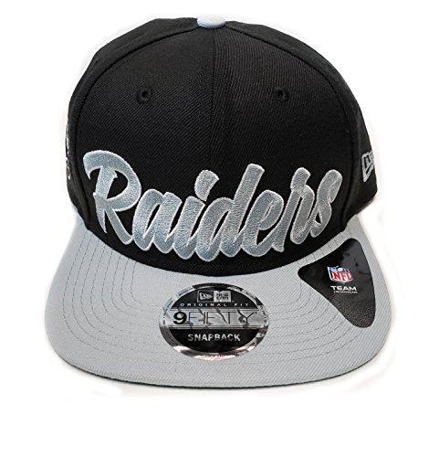 219ec5444 New Era Og Fits La Oakland Raiders Black White Script Retro Snapback Hat Cap