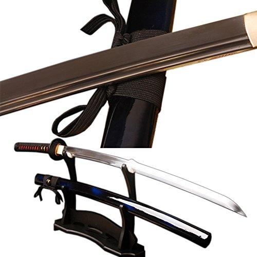 Handmade Japanese Samurai Katana Sword,Fuctional,Hand Forged,1060 Carbon Steel,Damascus,Full Tang,Real Sharp,Can Customize
