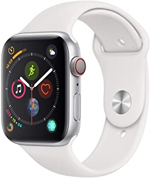Apple Watch Series 4 GPS + Cellular 44mm Aluminum Smart Watch (White)