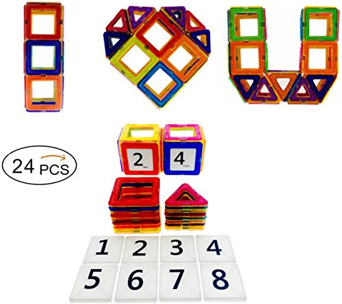Magnetic Building Blocks Educational Coodoo 24pcs product image