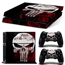 Ps4 Playstation 4 Console Skin Decal Sticker The Punisher + 2 Controller Skins Set