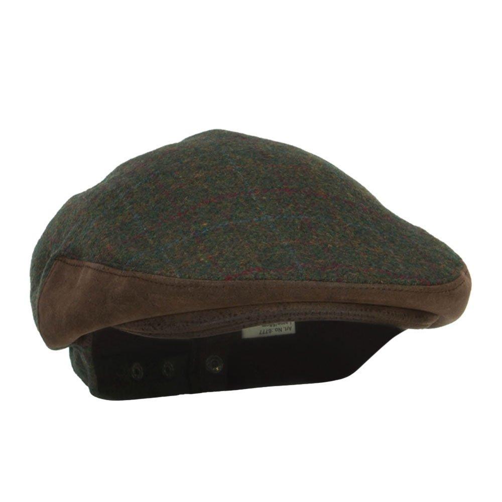 Mens Plaid Wool Suede Ivy Cap
