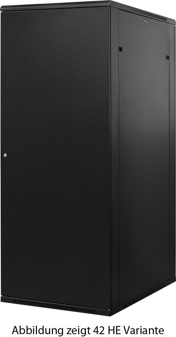 800x1000x1600mm BxTxH NEU 32 HE 19 Zoll 19Power GmbH 19 Serverschrank mit Gitternetz-T/üren vorne und hinten