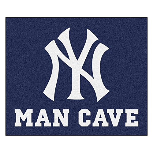 MLB New York Yankees Man Cave Tailgater Rectangular Mat Area Rug -