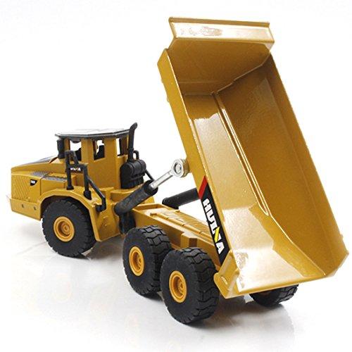 Dump Truck Model, GTKRTU 1:50 Six Wheels Alloy Engineering Vehicle Dump Truck Construction Toy for Kids Children 51fyIcCDPeL