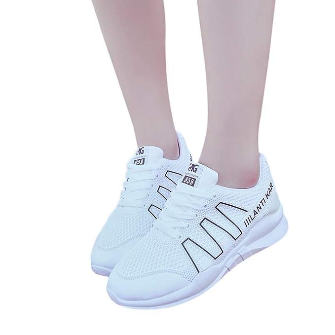 Memefood Zapatillas Deportivas Mujer De Cordones De Cuña De Malla Transpirable Casuales Zapato Deporte Con Plataforma Sneaker Aire Libre Fitness Correr ...