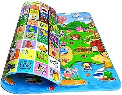 Multi-Color, 1.8m x 1.2m Baby Kid Toddler Crawl Mats Play Game Foldable Picnic Carpet Letter Alphabet Farm Mat