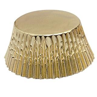 Fox Run Gold Foil Disposable Bake Cups, 3 x 3 x 1.25 inches