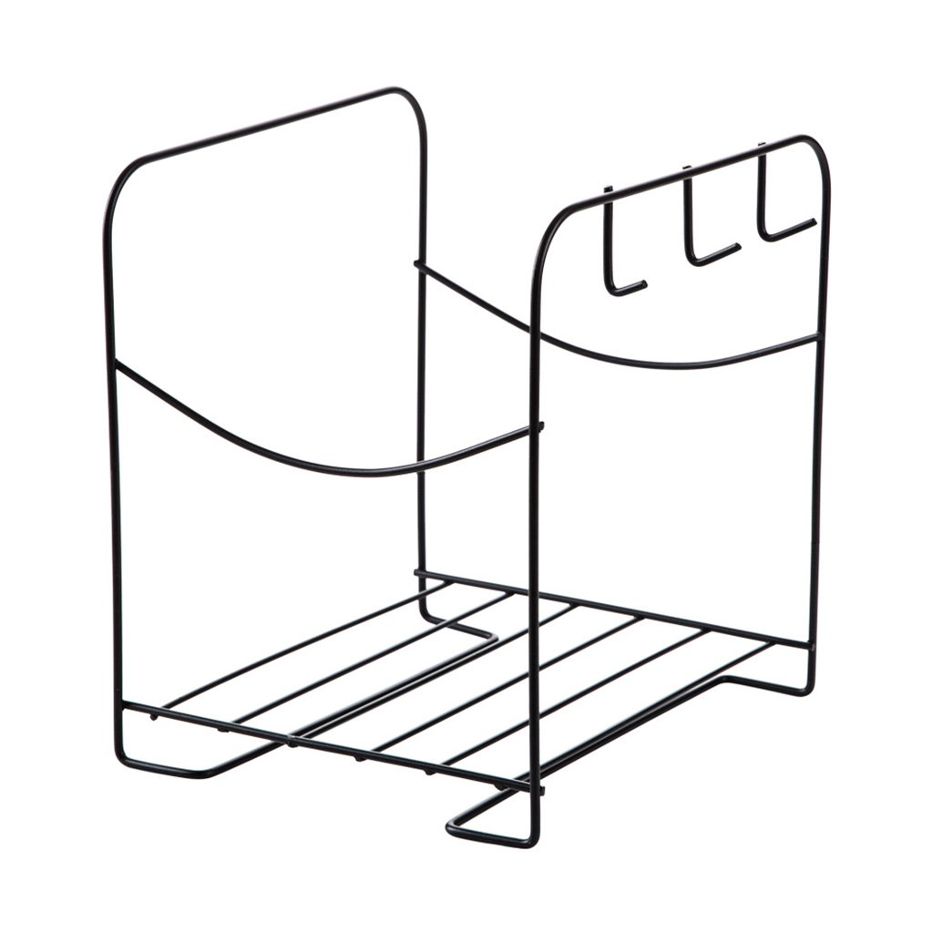 Floating Shelves Racks washbasin storage rack bathroom bathroom toilet wrought iron floor storage rack (Color : White, Size : 24.221.627cm)
