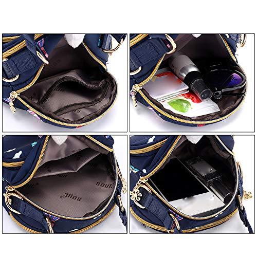Bolso Bolso Ocasional Impermeable Multi Bolso Compras Muchacha De La De Blue Hombro Del Viaje bolsillo Crossbody Nylon De Mini LIUYL De De Señoras Del Pequeño wgqXzn8