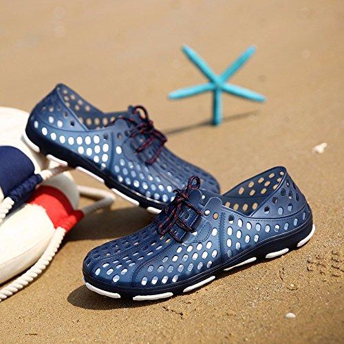 Sommer Hole Schuhe Männer Flip Flop Trend Breathable Sandalen Große Sandalen Strand Schuh Männer Tide Schuhe, blau, UK = 6, EU = 39