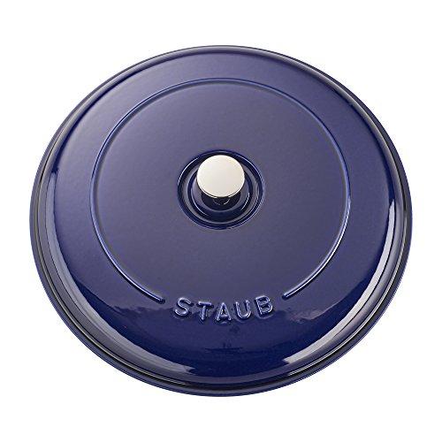 Staub Cast Iron 3.75-qt Braiser - Dark Blue by Staub (Image #4)