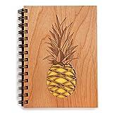 Pineapple Laser Cut Wood Journal (Notebook/Birthday Gift/Gratitude Journal/Handmade)