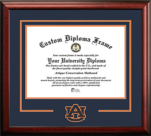 Auburn University Mascot Logo Diploma Frame (8.5 X - Auburn Frame Diploma