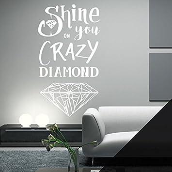 Shine on You Crazy Diamond - Pink Floyd Lyrics Wall Quote 4f03fc42e