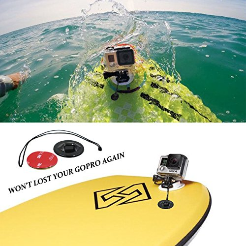 AxPro for GoPro 3 4 5 액세서리 키트 서핑 방지 싱크 헬멧 마운트 서프 보드 테더 세트 Floaty Sponge 3M Adhesive Sticker Bundle for GoPro Hero 6/AxPower for GoPro 3 4 5 Accessories Kit Surfing Anti Sink Helmet Mount Surfboard Tether Se...