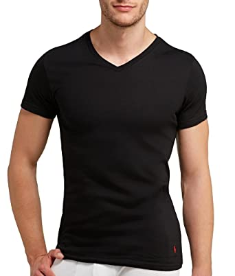 Polo Ralph Lauren Slim Fit V-Neck Undershirts 3-Pack Black Small