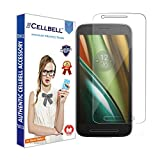 CELLBELL Motorola Moto E3 Tempered Glass Screen Protector With FREE Installation Kit
