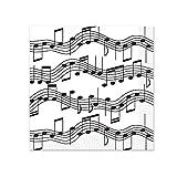 Beistle Musical Notes Beverage Napkins, White/Black
