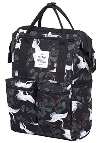 DISA Chic Doctor Bag Style College Backpack Travel Daypack | Japanes Crane