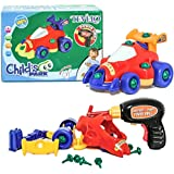 Tevelo Take-A-Part Racing Car Assemble/Disassemble with Drill and Tools