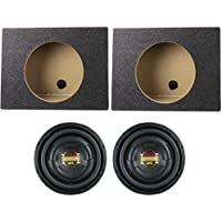 (2) Boss D10F 10 1600 Watt Slim Shallow Low Profile Car Audio Subwoofers Subs