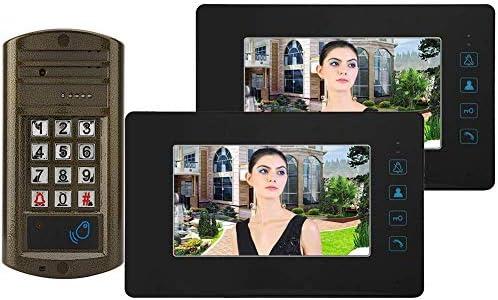 ドアベル、100〜240V 7インチHDスクリーン有線ドアベル防水ビデオインターホンドアベル(英国プラグ)
