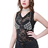 DDLBiz Women Sexy Night Bralette Body Chain Handmade Fashion Party Basic