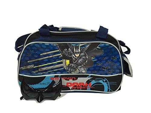 - DC Comics Batman Duffle Duffel Bag and Batman Sunglasses Set
