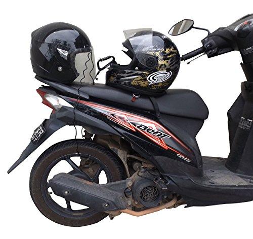 ★free Shipping★motorcycle Helmet Lock Amp Cable Sleek Black
