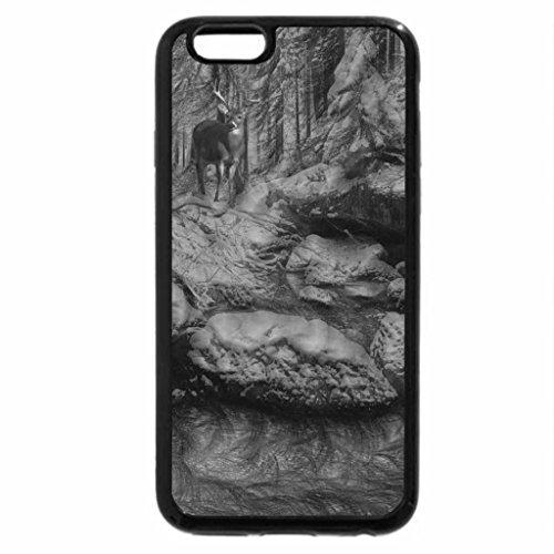 iPhone 6S Plus Case, iPhone 6 Plus Case (Black & White) - snowy river