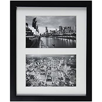 Amazon.com - Klikel Two Photo Collage Solid Black Wood Picture Frame ...
